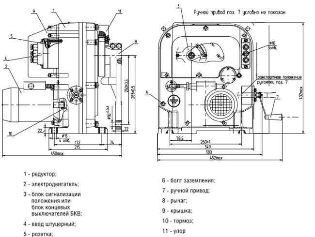 Электропривод МЭО-630/63-0,25И